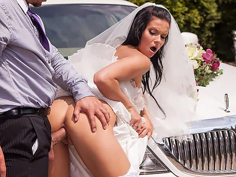 Düğün Konvoyunda Kenara Çekip Gelini Sikti